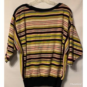 Moth Anthropology Striped Boat Neck Sweater Small